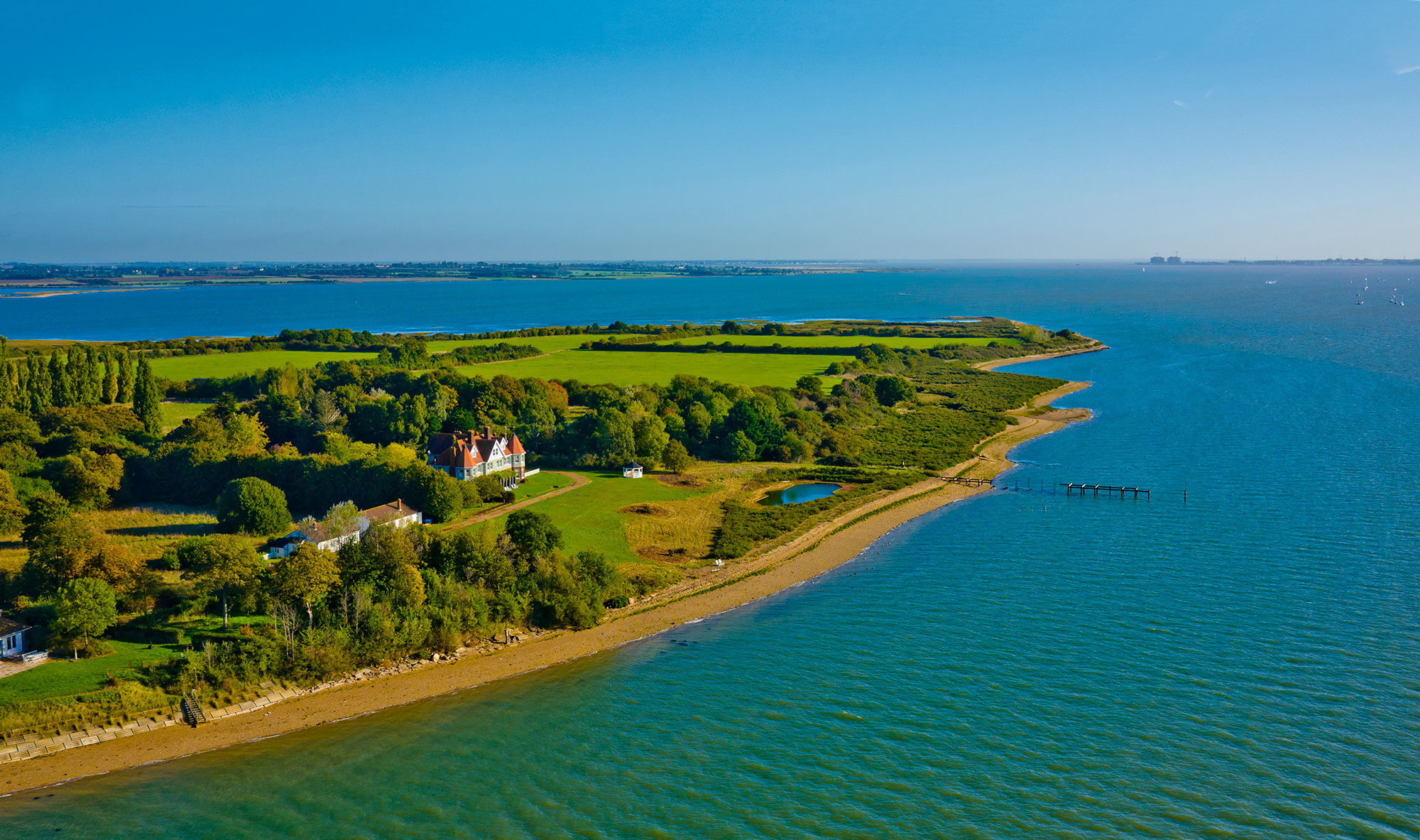 Osea Island Aerial View Of The Island